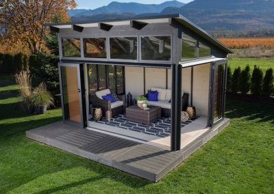 The top side view of a Visscher Specialty Gazebos Colorado